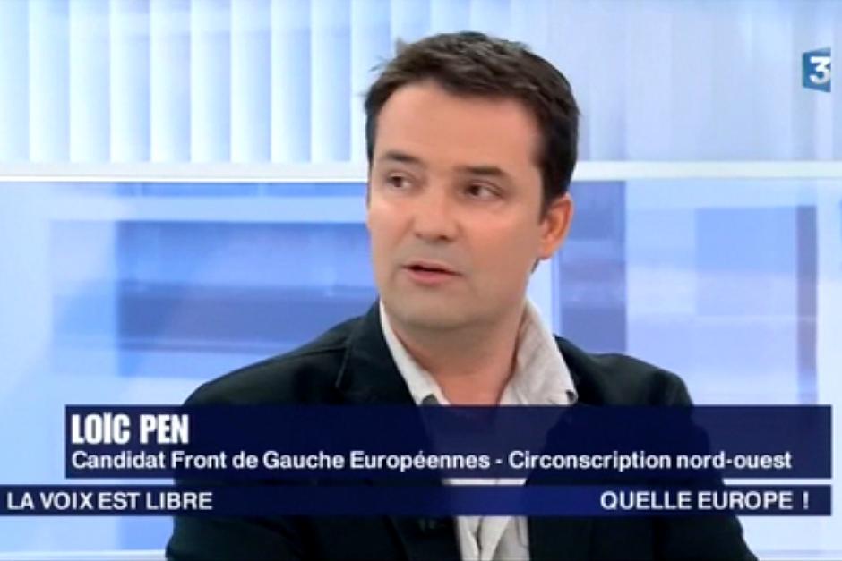 Intervention de Loïc Pen, de notre section, dans le cadre des européennes.